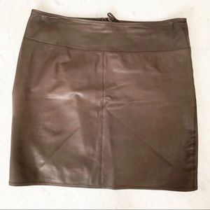 Marc Cain Brown Soft Leather Mini Skirt size 6